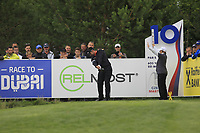 Lee Slattery (ENG) on the 10th tee during Round 4 of the D+D Real Czech Masters at the Albatross Golf Resort, Prague, Czech Rep. 03/09/2017<br /> Picture: Golffile | Thos Caffrey<br /> <br /> <br /> All photo usage must carry mandatory copyright credit     (&copy; Golffile | Thos Caffrey)