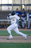 Rashun Dixon - Oakland Athletics 2009 Instructional League. .Photo by:  Bill Mitchell/Four Seam Images..