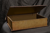Stock Photo of Vintage wooden box bathed in mysterious lighting