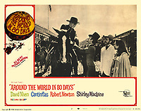 Around the World in 80 Days (1956) <br /> Lobby card with Cantinflas, David Niven, Shirley MacLaine &amp; Robert Newton<br /> *Filmstill - Editorial Use Only*<br /> CAP/MFS<br /> Image supplied by Capital Pictures