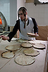 Israel, Bnei Brak. Passover at the Premishlan congregation, the Motzot baking on Passover eve, 2005<br />