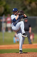 Butler Bulldogs starting pitcher Nick Morton (29) delivers a pitch during a game against the Indiana Hoosiers on March 6, 2016 at North Charlotte Regional Park in Port Charlotte, Florida.  Indiana defeated Butler 2-1.  (Mike Janes/Four Seam Images)