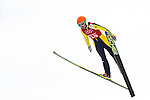 Eva Logar of Slovenia jumps during the Women's Normal Hill Individual training session of the 2014 Sochi Olympic Winter Games at Russki Gorki Ski Juming Center on February 9, 2014 in Sochi, Russia. Photo by Victor Fraile / Power Sport Images