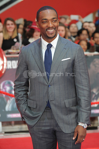 LONDON, ENGLAND - APRIL 26: Anthony Mackie attends the European premiere of Captain America: Civil War at Westfield Shopping Centre on April 26, 2016 in London, England.<br /> CAP/BEL<br /> &copy;BEL/Capital Pictures /MediaPunch ***NORTH AMERICAN AND SOUTH AMERICAN SALES ONLY***
