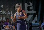 Nicole Wray performs with Lady at Robson Square, June 21, 2014 TD Vancouver International Jazz Festival