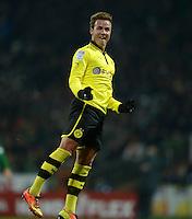 FUSSBALL   1. BUNDESLIGA   SAISON 2012/2013    18. SPIELTAG SV Werder Bremen - Borussia Dortmund                   19.01.2013 Torjubel nach dem 2:0:  Mario Goetze (Borussia Dortmund)