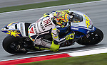KUALA LUMPUR, MALAYSIA - OCTOBER 24:  Valentino Rossi of Italy rides the #46 Fiat Yamaha Team Yamaha during qualifying for the Malaysian MotoGP, which is round 16 of the MotoGP World Championship at the Sepang Circuit on October 24, 2009 in Kuala Lumpur, Malaysia.  Photo by Victor Fraile / The Power of Sport Images