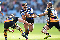 Jackson Willison of Bath Rugby takes on the Wasps defence. Heineken Champions Cup match, between Wasps and Bath Rugby on October 20, 2018 at the Ricoh Arena in Coventry, England. Photo by: Patrick Khachfe / Onside Images