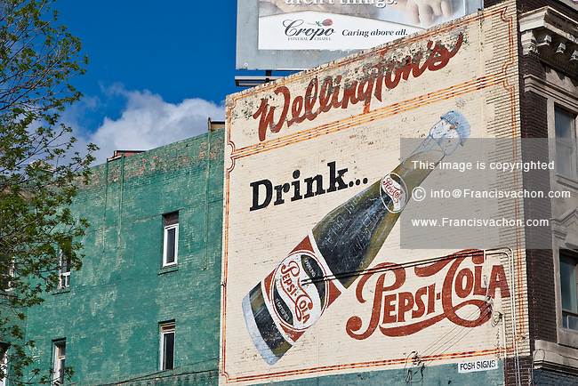 A Pepsi-Cola vintage Mural advertisement is pictured in Winnipeg Sunday May 22, 2011.