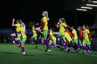 Bristol players warm up during Arsenal Women vs Bristol City Women, FA Women's Super League Football at Meadow Park on 14th March 2019
