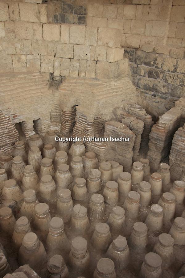 Israel, Beth Shean valley. The western bathhouse of Scythopolis