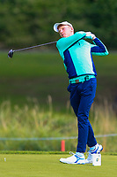 John Murphy of Team Ireland on the 1st tee during Round 3 of the WATC 2018 - Eisenhower Trophy at Carton House, Maynooth, Co. Kildare on Friday 7th September 2018.<br /> Picture:  Thos Caffrey / www.golffile.ie<br /> <br /> All photo usage must carry mandatory copyright credit (&copy; Golffile | Thos Caffrey)