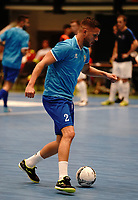 20191010 - HALLE: Halle-Gooik's Dujacquier is pictured during warm up before the UEFA Futsal Champions League Main Round match between FP Halle-Gooik (BEL) and Kherson (UKR) on1 0th October 2019 at De Bres Sportcomplex, Halle, Belgium. PHOTO SPORTPIX | SEVIL OKTEM