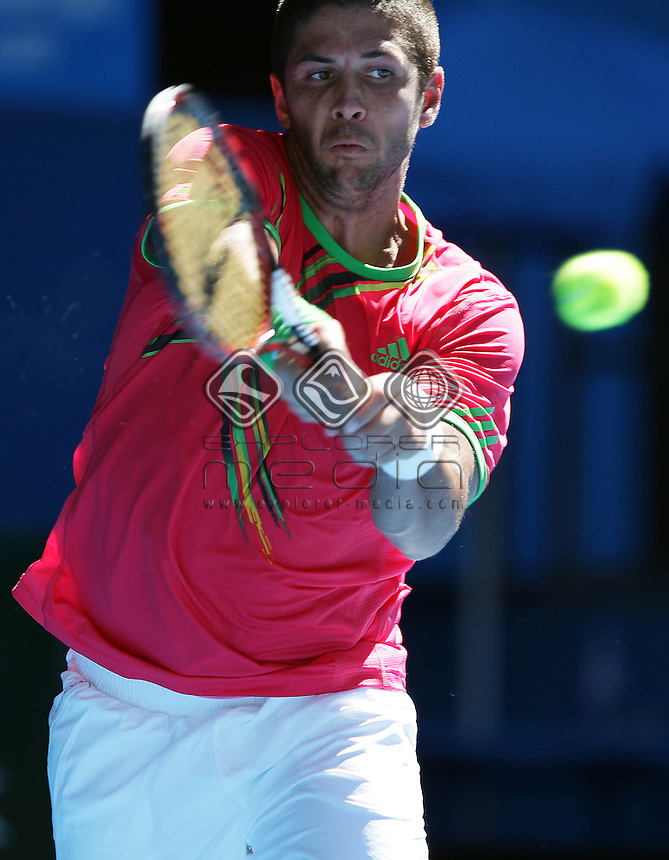 Fernando Verdasco (ESP) v Janko Tipsarevic (SRB) - Day 3<br /> Tennis - Australian Open 2011<br /> Melbourne Park<br /> Melbourne, Victoria, Australia<br /> 17 - 30 January 2011<br /> &copy; Sport the library