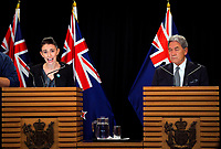 NZ Prime Minister Jacinda Ardern (left) and Deputy Prime Minister Winston Peters. Post Cabinet media press conference at Parliament in Wellington, New Zealand on Monday, 18 March 2019. Photo: Dave Lintott / lintottphoto.co.nz