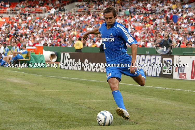9 July 2005: Davy Arnaud. The Kansas City Wizards defeated DC United 1-0 at RFK Stadium in Washington, DC in a regular season Major League Soccer game. .