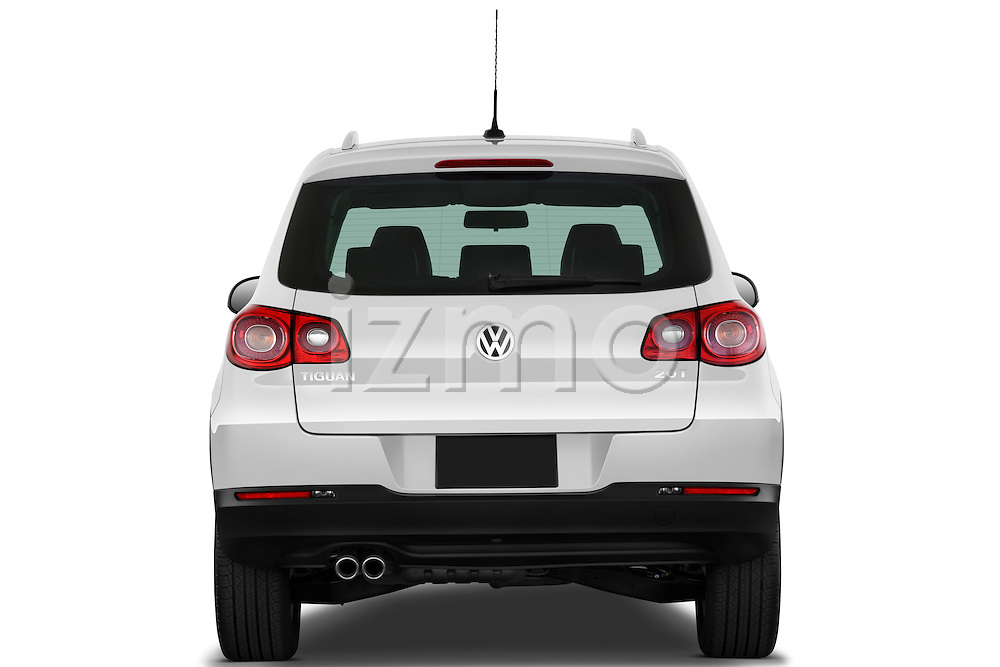 Straight rear view of a 2010 Volkswagen Tiguan Wolfsburg SUV  Stock Photo