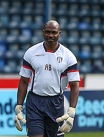 Ademola Bankole Colchester United Goalkeeping Coach during the Sky Bet League 2 match between Wycombe Wanderers and Colchester United at Adams Park, High Wycombe, England on 27 August 2016. Photo by Andy Rowland.