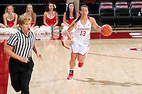 Stanford, CA -- November 7, 2015:  Stanford Cardinal over Academy of Art Urban Knights 81-48 in an exhibition game at Maples Pavilion.