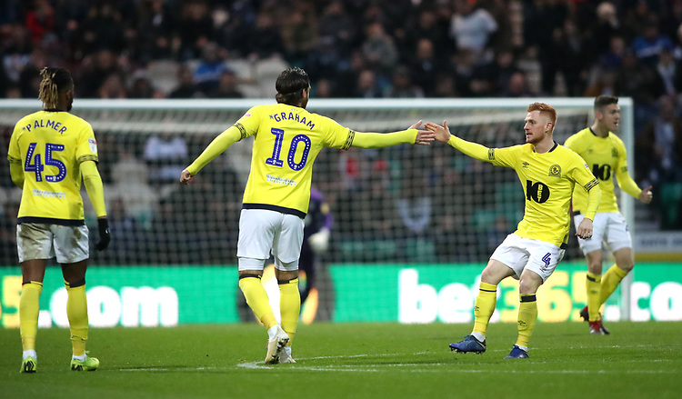 Blackburn Rovers' Danny Graham celebrates scoring his sides first goal with his fellow team mates <br /> <br /> Photographer Rachel Holborn/CameraSport<br /> <br /> The EFL Sky Bet Championship - Preston North End v Blackburn Rovers - Saturday 24th November 2018 - Deepdale Stadium - Preston<br /> <br /> World Copyright © 2018 CameraSport. All rights reserved. 43 Linden Ave. Countesthorpe. Leicester. England. LE8 5PG - Tel: +44 (0) 116 277 4147 - admin@camerasport.com - www.camerasport.com