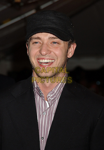 "JUSTIN TIMBERLAKE.Attends the ""Edison"" World Premiere held at Roy Thomson Hall during The Toronto Film Festival,.Toronto 17th September 2005.portrait headshot black baseball hat cap suit stubble .Ref: ADM/LF.www.capitalpictures.com.sales@capitalpictures.com.© Capital Pictures."