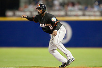 9 March 2009: #2 Yurendell DeCaster of the Netherlands prepares to steal second base during the 2009 World Baseball Classic Pool D game 4 at Hiram Bithorn Stadium in San Juan, Puerto Rico. Puerto Rico wins 3-1 over Netherlands