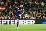 Lionel Andres Messi of FC Barcelona in action during the La Liga match between FC Barcelona vs RCD Espanyol at the Camp Nou on 09 September 2017 in Barcelona, Spain. Photo by Vicens Gimenez / Power Sport Images