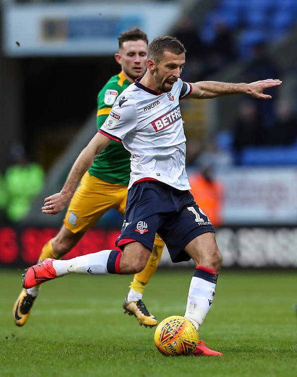 Bolton Wanderers' Gary O'Neil breaks <br /> <br /> Photographer Andrew Kearns/CameraSport<br /> <br /> The EFL Sky Bet Championship - Bolton Wanderers v Preston North End - Saturday 9th February 2019 - University of Bolton Stadium - Bolton<br /> <br /> World Copyright © 2019 CameraSport. All rights reserved. 43 Linden Ave. Countesthorpe. Leicester. England. LE8 5PG - Tel: +44 (0) 116 277 4147 - admin@camerasport.com - www.camerasport.com