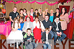 50th birthday: Mags McElligott, Kilflynn, celebrating her 50th birthday with family & friends at Parkers Bar, Kilflynn on Saturday night last...Front : PJ Fo;ey & Martin McElliott. Seated ; Martina McElliogtt, Chris Collins, Breda Glavin, Mags McElligott, Johnny Power & John Martin. 3rd Row: Peter O'Hara, Lauren O'Hara, Anne Fitzpatrick, Kerri Wellbury, France O'Rourke, Bridge Foley, Patricia Glavin. Back : Ester O'Sullivan, Margaret Sheehan, Hannah Finnucane, Denise Relihan & Deidre Power.