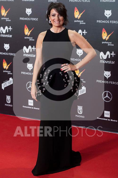 Silvia Abril attends red carpet of Feroz Awards 2018 at Magarinos Complex in Madrid, Spain. January 22, 2018. (ALTERPHOTOS/Borja B.Hojas)