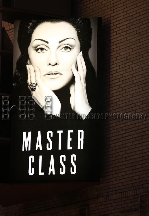 Tyne Dale as Maria Callas ( Theatre Marquee ).at the Opening Night Performance Curtain Call for The Manhattan Theatre Club's  'Master Class' at the Samuel J. Friedman Theatre in New York City.