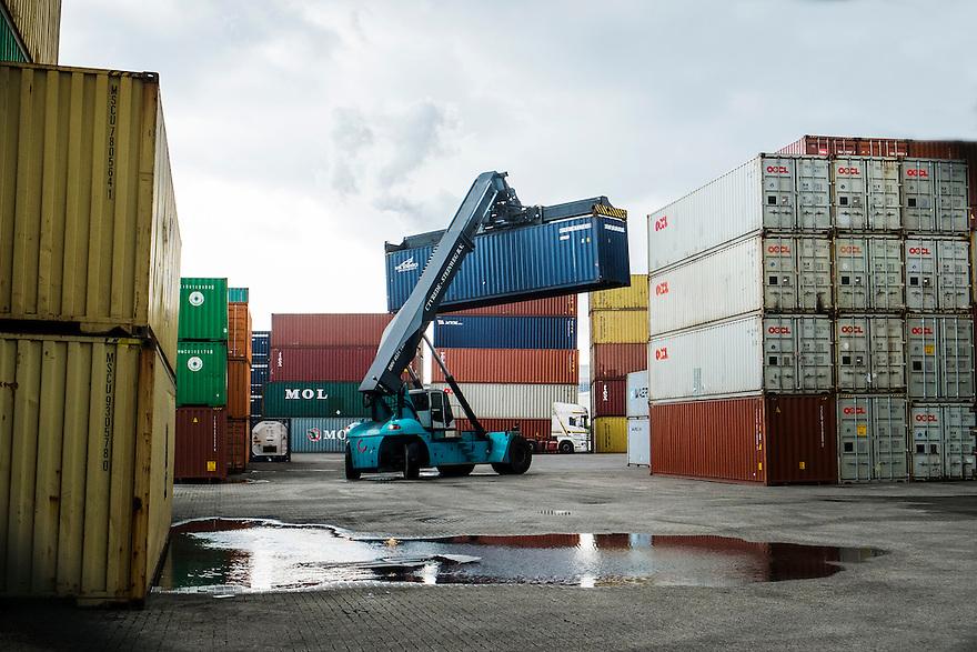Nederland, Zaanstad, 26 feb 2014<br /> Containerhaven Zaandam. <br /> Foto(c): Michiel Wijnbergh