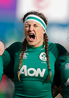 9th February 2020; Energia Park, Dublin, Leinster, Ireland; International Womens Rugby, Six Nations, Ireland versus Wales; Anna Caplice of Ireland during the singing of Irelands call