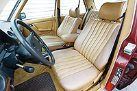 Pictured: Interior view. Monday 02 September 2019<br /> Re: A Mercedes Benz W123 300D Turbo Diesel car from Missouri in the USA, which has been repaired by Marc Cosovich of W123 World in Swansea, Wales, UK.
