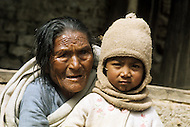 February 1975, Pokhara area, Nepal. Daily life. Portrait of Nepalese.