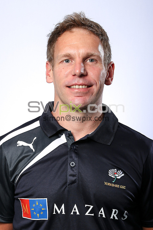 Picture by Alex Whitehead/SWpix.com - 03/04/2015 - Cricket - Yorkshire CCC Headshots - Headingley Stadium, Leeds, England - Yorkshire's Ian Fisher.