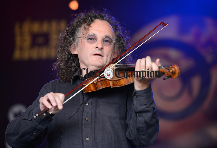 Martin Hayes performing with the Tulla Ceili Band at the official opening of the All-Ireland Fleadh 2017 in Ennis. Photograph by John Kelly.