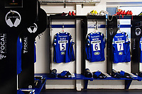 A general view in the Bath Rugby changing rooms. Gallagher Premiership match, between Bath Rugby and Exeter Chiefs on October 5, 2018 at the Recreation Ground in Bath, England. Photo by: Patrick Khachfe / Onside Images