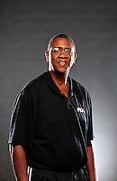 Dec. 16, 2011; Phoenix, AZ, USA; Phoenix Suns coach Bill Cartwright poses for a portrait during media day at the US Airways Center. Mandatory Credit: Mark J. Rebilas-