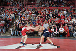 MADISON, WI - JANUARY 19: Kyle Massey of the Wisconsin Badgers wrestling team against the Penn State Nittany Lions at the Field House on January 19, 2007 in Madison, Wisconsin. The Badgers beat the Nittany Lions 17-16. (Photo by David Stluka)