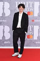 Edward Bluemel<br /> arriving for the BRIT Awards 2019 at the O2 Arena, London<br /> <br /> ©Ash Knotek  D3482  20/02/2019<br /> <br /> *images for editorial use only*