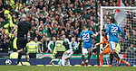 15.04.2018 Celtic v Rangers scottish cup SF:<br /> Jason Holt gives away a penalty kick