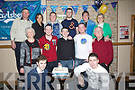 DOUBLE: Twins Micheál and Liam Collins Listowel celebrated their 21st in Christy's bar, The Square, Listyowel on Sunday night. Front l-r: Conor,Julia, Liam,Sean, Micheál  and Mike Collins and David O'Carroll. Back l-r: John Collins, Ann O'Sullivan,Stephen Dillon, Patrick Kennelly, James Bambury and Maureen Collins..