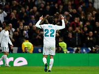 Real Madrid's Isco Alarcon celebrates goal  and UD Las Palmas'  during La Liga match. November 5,2017. (ALTERPHOTOS/Inma Garcia)