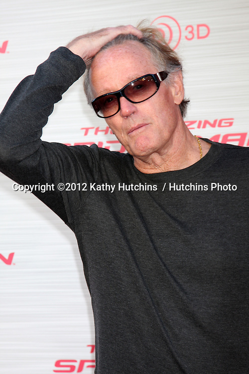 """LOS ANGELES - JUN 28:  Peter Fonda arrives at the """"The Amazing Spider-Man"""" Premiere at Village Theater on June 28, 2012 in Westwood, CA"""