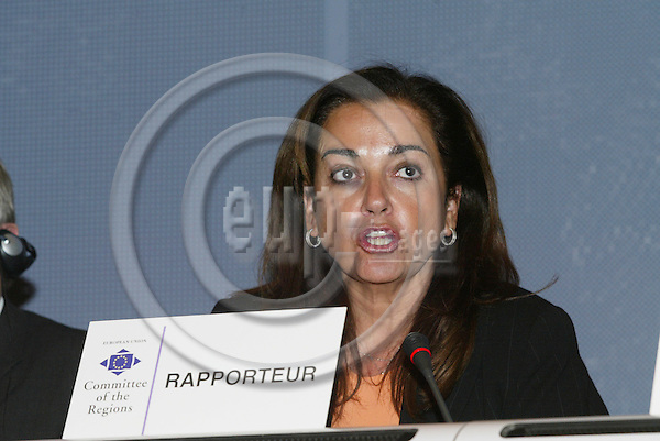 BRUSSELS - BELGIUM - 12 OCTOBER 2005 --Committee of the Regions (CoR) - Open Days. -- Plenary Session. -- Repporteur Theodora BAKOGIANNI.  PHOTO: ERIK LUNTANG / EUP-IMAGES..
