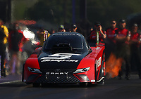 Apr 21, 2017; Baytown, TX, USA; NHRA funny car driver Cruz Pedregon during qualifying for the Springnationals at Royal Purple Raceway. Mandatory Credit: Mark J. Rebilas-USA TODAY Sports