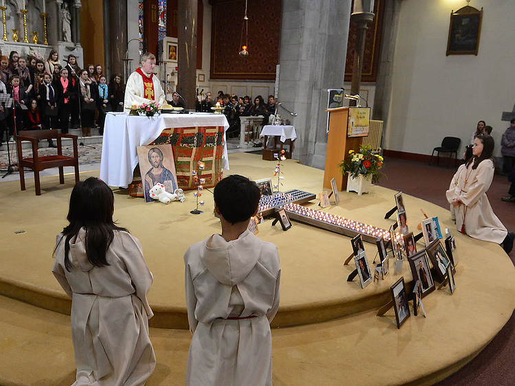 A view of the annual SOSAD mass at the Augustinian church Drogheda. Photo:Colin Bell/pressphotos.ie