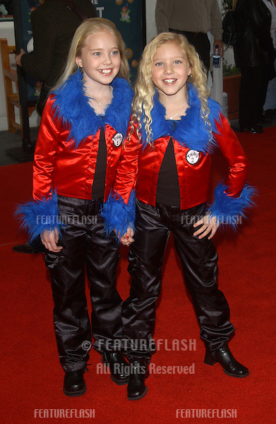 Actresses DANIELLE CHUCHRAN (left) & BRITTANY OAKES at the world premiere, in Hollywood, of their new movie Dr. Suess' The Cat in the Hat..November 8, 2003