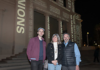 Artist Keith Skretch and Jane and Bob Ettinger, who established and sustain The Ettinger Projected Poetry and Art Project.<br />